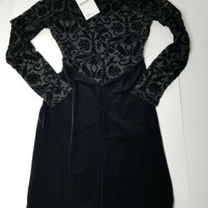 Asos Petite Black & Purple Zip Up Lace Dress sz. 2